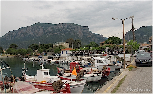 Boat harbour at Diakopto